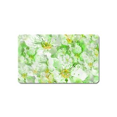 Light Floral Collage  Magnet (name Card)