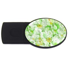 Light Floral Collage  Usb Flash Drive Oval (2 Gb)