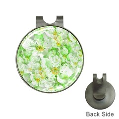 Light Floral Collage  Hat Clips With Golf Markers