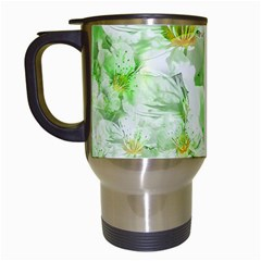 Light Floral Collage  Travel Mugs (white)