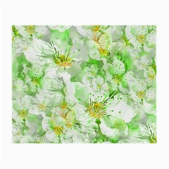Light Floral Collage  Small Glasses Cloth