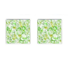 Light Floral Collage  Cufflinks (square)