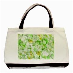 Light Floral Collage  Basic Tote Bag