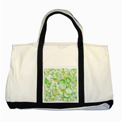 Light Floral Collage  Two Tone Tote Bag
