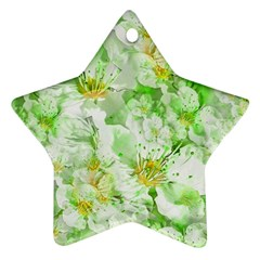 Light Floral Collage  Star Ornament (two Sides)