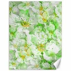 Light Floral Collage  Canvas 12  X 16