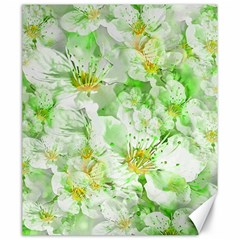 Light Floral Collage  Canvas 20  X 24