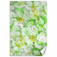 Light Floral Collage  Canvas 24  X 36