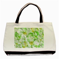 Light Floral Collage  Basic Tote Bag (two Sides)