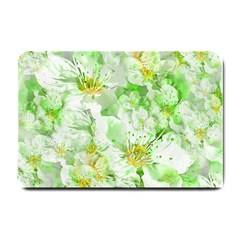 Light Floral Collage  Small Doormat