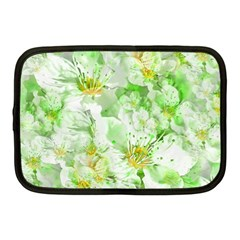Light Floral Collage  Netbook Case (medium)