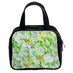 Light Floral Collage  Classic Handbags (2 Sides)