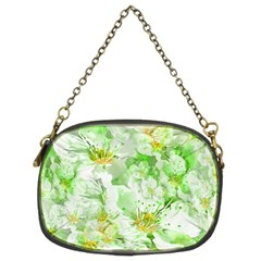 Light Floral Collage  Chain Purses (two Sides)