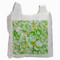 Light Floral Collage  Recycle Bag (two Side)