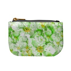 Light Floral Collage  Mini Coin Purses