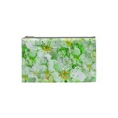 Light Floral Collage  Cosmetic Bag (small)