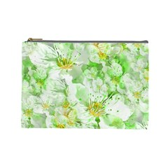 Light Floral Collage  Cosmetic Bag (large)