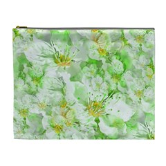 Light Floral Collage  Cosmetic Bag (xl)