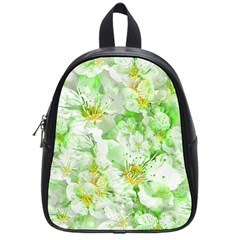 Light Floral Collage  School Bag (small)