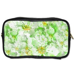 Light Floral Collage  Toiletries Bags 2 Side