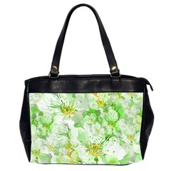 Light Floral Collage  Office Handbags (2 Sides)