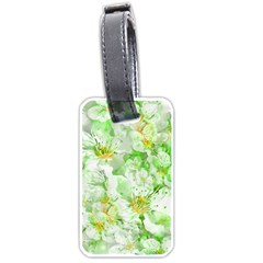 Light Floral Collage  Luggage Tags (one Side)