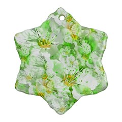 Light Floral Collage  Ornament (snowflake)