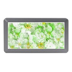 Light Floral Collage  Memory Card Reader (mini)