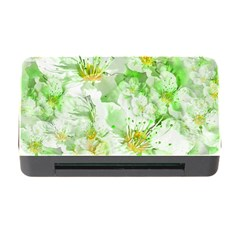 Light Floral Collage  Memory Card Reader With Cf