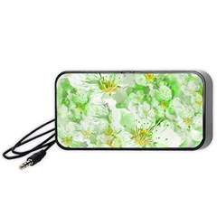 Light Floral Collage  Portable Speaker