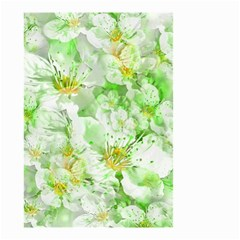 Light Floral Collage  Small Garden Flag (two Sides)
