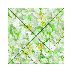Light Floral Collage  Acrylic Tangram Puzzle (6  X 6 )