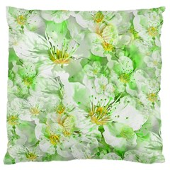 Light Floral Collage  Large Cushion Case (one Side)