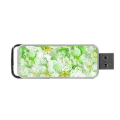 Light Floral Collage  Portable Usb Flash (one Side)