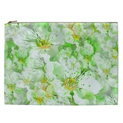Light Floral Collage  Cosmetic Bag (xxl)