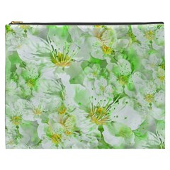 Light Floral Collage  Cosmetic Bag (xxxl)