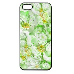 Light Floral Collage  Apple Iphone 5 Seamless Case (black)