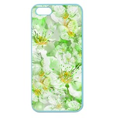 Light Floral Collage  Apple Seamless Iphone 5 Case (color)