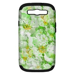 Light Floral Collage  Samsung Galaxy S Iii Hardshell Case (pc+silicone)