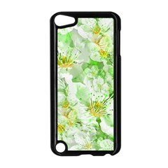 Light Floral Collage  Apple Ipod Touch 5 Case (black)