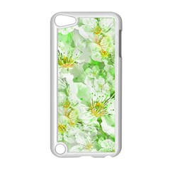 Light Floral Collage  Apple Ipod Touch 5 Case (white)