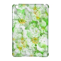 Light Floral Collage  Apple Ipad Mini Hardshell Case (compatible With Smart Cover)