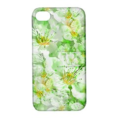 Light Floral Collage  Apple Iphone 4/4s Hardshell Case With Stand