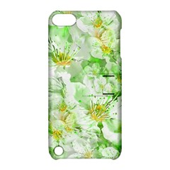 Light Floral Collage  Apple Ipod Touch 5 Hardshell Case With Stand