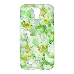Light Floral Collage  Samsung Galaxy S4 I9500/i9505 Hardshell Case