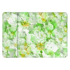Light Floral Collage  Samsung Galaxy Tab 8 9  P7300 Flip Case