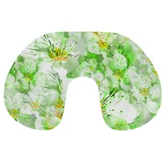 Light Floral Collage  Travel Neck Pillows