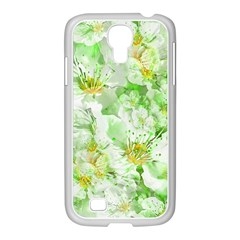 Light Floral Collage  Samsung Galaxy S4 I9500/ I9505 Case (white)