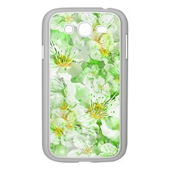Light Floral Collage  Samsung Galaxy Grand Duos I9082 Case (white)