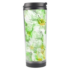 Light Floral Collage  Travel Tumbler